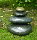 smooth basalt stones in Trumansburg Creek