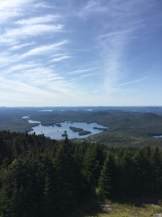 view from fire tower atop Blue Mountain